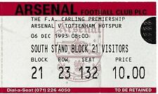Arsenal Football Tickets & Stubs
