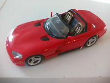 BURAGO 1/18  Viper RT/10 Dodge  DIECAST MODEL CAR. Coche ROJO