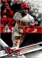 2017 Topps Holiday Metallic Snowflake Baseball Card #HMW114 Cameron Maybin