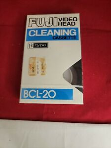 New Sealed Fuji Head Cleaning Video Cassette Tape Beta Betamax Player BCL-10