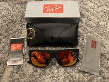 Ray-Ban Justin Classic RB4165 622/6Q 54mmMatte Black Red Mirror Lens