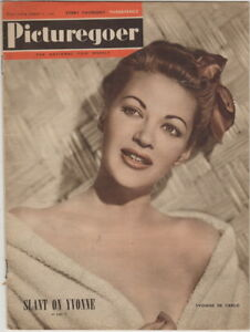 Picturegoer Magazine, Yvonne De Carlo Cover August 27, 1949