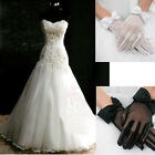 Lady Women's Short Bowknot Wrist Gloves Evening Wedding Party Bridal Accessories