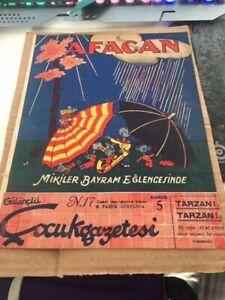 TARZAN 1st TURKISH COMIC MAGAZINE CHARLIE CHAPLIN 1935 + MICKEY MOUSE Platin Age