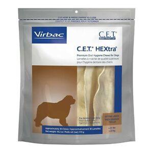 CET Premium Enzymatic Hextra Oral Hygiene Rawhide Chews for Dogs XL exp.4/23