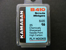 Kamasan B410 Smuts & Midge Fly Tying Fishing Hook - various sizes available