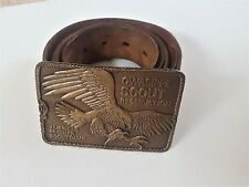 Boy Scout Belt and Buckle - Owasippe Scout Reservation Buckle Red Wing Camp Belt