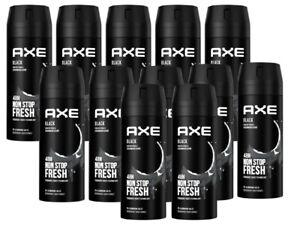 Deo Axe Bodyspray Black ohne Aluminiumsalze 12x 150 ml