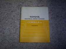 1986 Toyota Corolla FR Electrical Wiring Diagram Manual DX LE SR5 GTS 1.6L 4Cyl