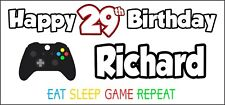 Xbox Controller 29th Birthday Banner x 2 Party Decorations Mens Ladies ANY NAME
