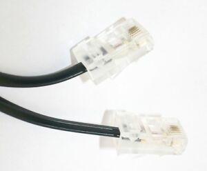 5m Telefon-Kabel ISDN-Anschluss-Kabel 5m schwarz RJ-45 8P4C S0-Bus 5,0 m