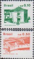 Brasilien 2178A-2179A (kompl.Ausg.) postfrisch 1986 Bauwerke