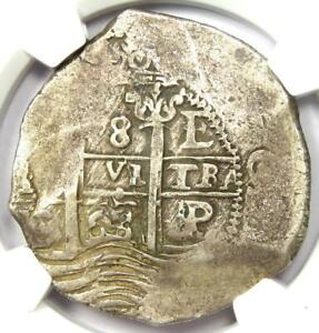 1663-P E Bolivia Philip IV 8 Reales Coin (8R) - Certified NGC VF30 - Rare Coin!