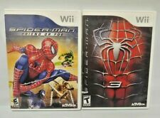 Spider-Man 3 + Friend or Foe -  Nintendo Wii Wii U Game Lot Complete Venom