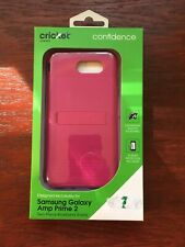 Cricket Samsung Galaxy Amp 2 Two-Toned Kickstand Shield Confidence. New.