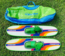 New listing Vintage Obrien Freestyle Wooden Water Skis Trick 40� Waterskis Bag O'Brien