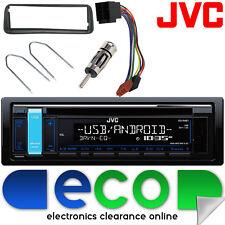 PEUGEOT 206 JVC CD mp3 USB AUX IPOD RADIO STEREO PER AUTO GRUPPO Fascia & kit di montaggio