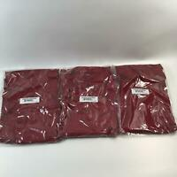 (3 PACK) Amazon Essentials Men's Tech Stretch Polo Shirt, Maroon Heather, Large