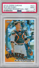 2010 Topps Chrome Wrapper Redemption Refractors #221 Buster Posey PSA Mint 9
