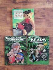 Lote 3 osos de peluche y sus ropas libro haciendo Osos & armario nancy Southerland