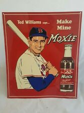 """MAKE MINE MOXIE"" TED WILLIAMS MLB REPRODUCTION METAL SIGN 11"" x 13"""
