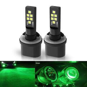 2x 880 881 Green LED Headlight Bulbs SMD 3030 Fog Driving Light Super Bright