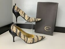 just cavalli Leopard print Court Shoes Heels Size 38 Uk 5 Boxed Gc