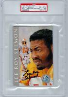 LEE ROY SELMON Auto Signed 1998 Ron Mix Football HOF Platinum PSA POP 1 BUCS