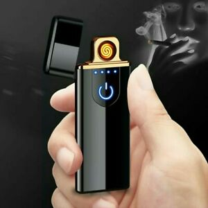 Charging Lighter Touch Induction Windproof Electronic USB Cigarette Lighter Cust