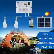 """Portable Solar LED Camping Lantern Light Systen Home With Mobile Phone Charg KK"