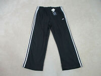 NEW Adidas Pants Adult Large Black White Spell Out Logo Track Pants Mens A56
