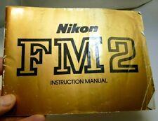 Nikon FM2 Camera Photography Guide Instruction Manual English EN genuine OEM