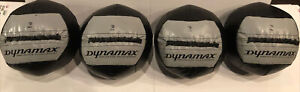 Lot Of 4 Dynamax 2 Pound 14 Inch Medicine Balls for Core Workout, Gray and Black