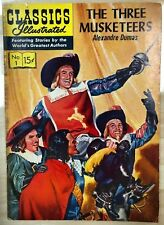 CLASSICS ILLUSTRATED #1 The Three Musketeers by Alexandre Dumas (HRN 134) VG+