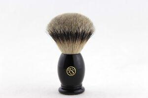 """FS""-#MS22-EB04, MANCHURIAN Silvertip badger Shaving Brush with Black Handle"