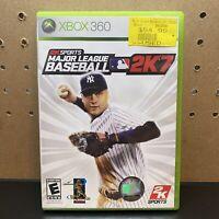 Major League Baseball 2K7 (Microsoft Xbox 360, 2007) Tested-Complete W/ Manual
