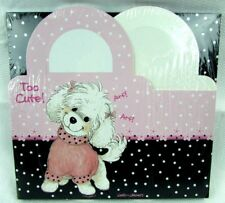 Suzys Zoo Wags And Whiskers Too Cute Dogs 6 Gift Boxes Pink Black White Dots