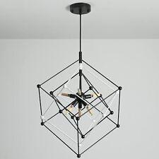 6-Lights Modern Chandelier, Mid Century Modern Pendant Light (Black&White)
