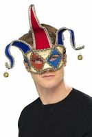 Men's Venetian Jester Phantom Mask Fancy Dress Masquerade Ball Halloween Stag