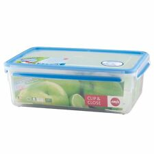 Emsa Set of Two Clip & Close 3D perfclean Airtight Container Box Storage