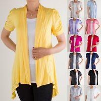 Yoain Fly Away Cardigan Short Sleeve Ruched Soft Regular Plus S ~ 3XL