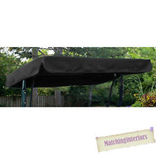 Black Water Resistant 2 Seater Replacement Canopy for Garden Hammock Swing Seat