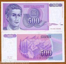 YUGOSLAVIA 500 DINARA UNC # 841