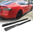 For Tesla Model S Sedan 2014-2019 Carbon Fiber Side Skirts Extension Lip Spoiler