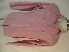 English Laundry Mens Red Stripe Long Sleeve Cotton Shirt L