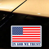 In God We Trust Sticker American USA Flag Car Body Window Bumper Decal Accessory