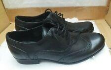 CLARKS 'Bingo' Leather Brogues - Wide Fit - Black - UK 8 F/EU 42