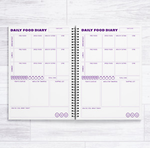 A5 SLIMMING WORLD - 84 DAILY FOOD DIARIES IN A BOOK - 12 WEEK FOOD DIARY BOOK