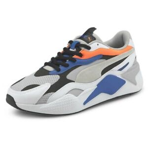 Puma RS-X³ Prism US MEN'S SIZE 11 - Violet, White, Gray, Ultra Orange 374758-03