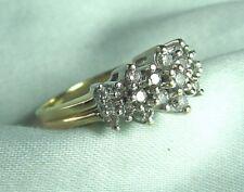 ZEI 14K White & Yellow Gold Ring w Diamonds 5.3 grams size 9